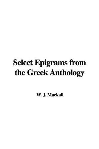 Download Select Epigrams from the Greek Anthology