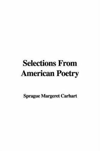Download Selections from American Poetry
