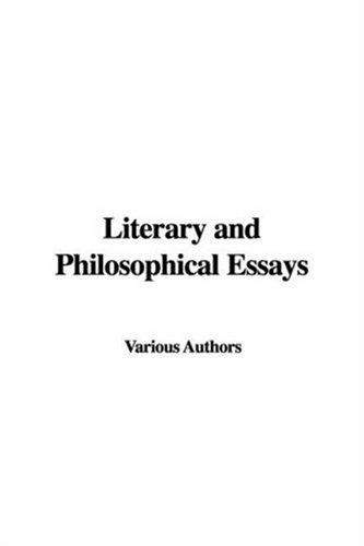 Download Literary and Philosophical Essays