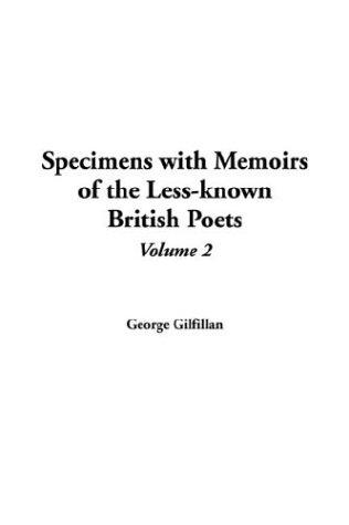 Download Specimens With Memoirs Of The Less-known British Poets