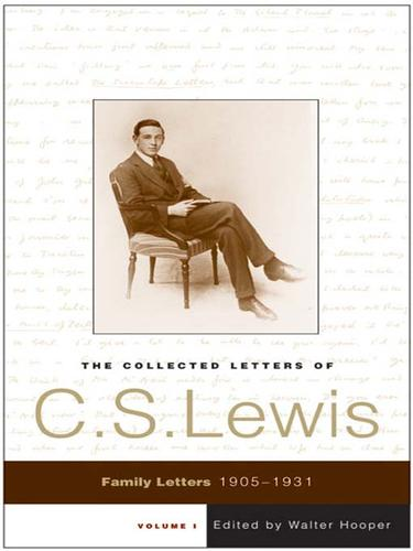 Download The Collected Letters of C. S. Lewis, Volume 1