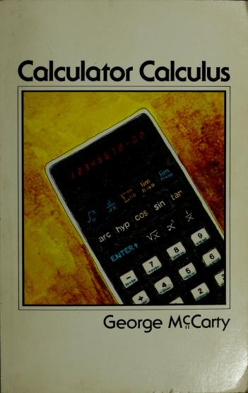Calculator calculus by George McCarty