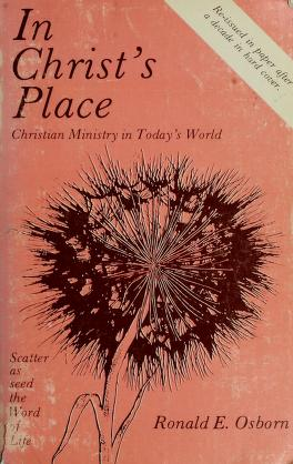 Cover of: In Christ's place | Ronald E. Osborn