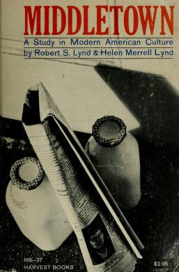 Cover of: Middletown | Robert Staughton Lynd