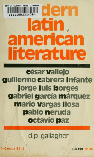 Modern Latin American literature by D. P. Gallagher