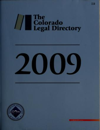 Cover of: Official Colorado legal directory |