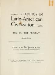 Cover of: Readings in latin-american civilization,1492 to the present | Benjamin Keen