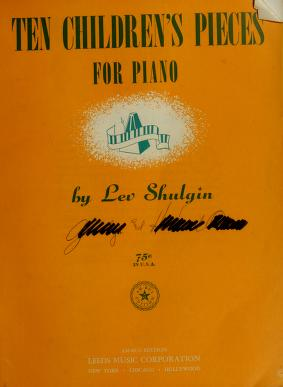Cover of: Ten children's pieces for piano | Lev Shulgin