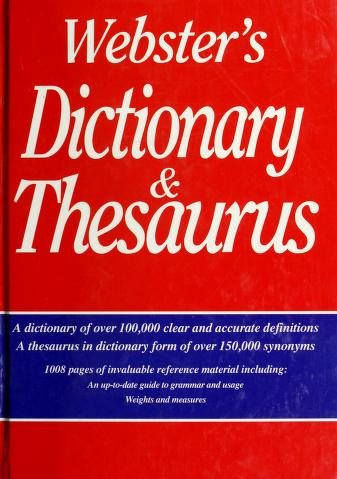Cover of: Webster's Dictionary and Thesaurus   Smithmark Press