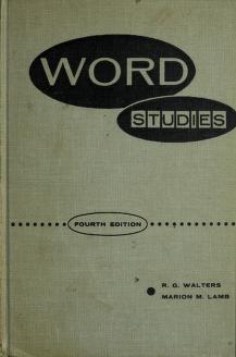 Cover of: Word studies | R. G. Walters