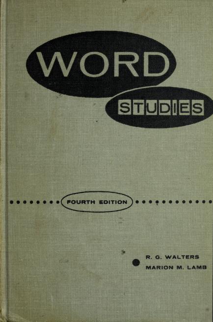 Word studies by R. G. Walters